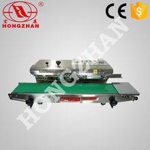 Hongzhan CBS-900/980/1100 plastic film aluminum foil sealing sealer and coding machine continuous sealing and coding machine