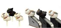 Пылезащитная заглушка для мобильных телефонов Seasky 10pcs/lot 3,5 cat apple iphone4s/5s Samsung HTC
