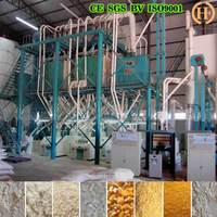 100 tons per day maize grits making corn flour milling machine line in South Africa