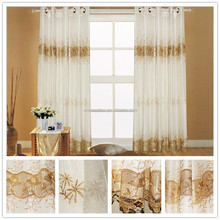 Hotel Chemical Embroidery (Emb) Linen Curtain Fabric, Linen Chemical Embroidered Finished Curtains