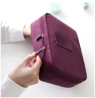 New Trendy travel toiletry organizer bag, lovly hot pink cosmetic pounch for women