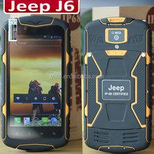 Free shipping Jeep J6 waterproof phone 5.0 inch 1280x720 pixels MTK6582 Quad Core 1.3GHz 1G 8GB 5.0mega 13.0mega WCDMA NO.1 X1