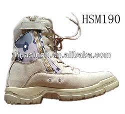DH,high strong quality soldier favored side zip vents camouflage desert boots for Saudi Arabia