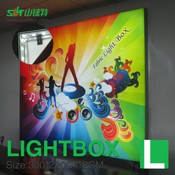 aluminum poster with highpower led edge lit