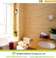 One Piece Vanity Top Bathroom Vanity Top Sink Beige Travertine