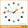 Modern Multi-Coloured Wall Clock With Colorful Balls