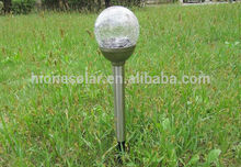 CE/ROHS/EMC LED Stainless Steel Solar Lamp Outdoor