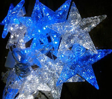 wedding outdoor/indoor decoration and fairy lights felt christmas star