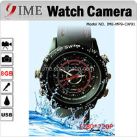 Top Selling Watch Hidden Camera Waterproof 8GB Memory Mini DV 1280*960 DVR Digital Watch