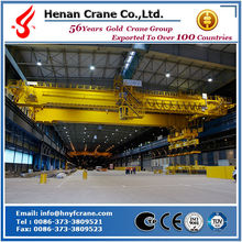High working frequency double girder magnet overhead crane price