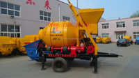 Small Portable Mobile Concrete Pump With Mixer