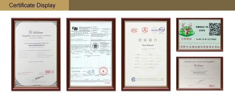 03 certifications display