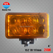 4'' 4 inch square 24w led driving lights,high power led driving lights flood/pencil beam