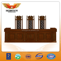 2015 office desk New Product Wooden Tribunal Furniture HY-J01