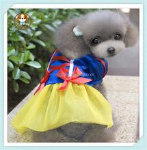 2015 new pet apparel snow princess graceful dog dress/dog clothes