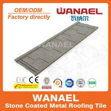 Shingle Wanael stone coated steel roof sheet/roman tile metal roof/galvanized sheet price, Guangzhou China