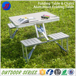 2015 cheap portable aluminum folding camping table and chairs