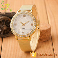 Wholesale High Quality Beautiful Alloy Lady Watches With Diamond
