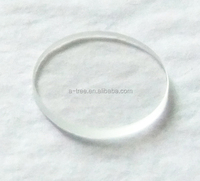 51.7*5.0mm flat tempered clear borosilicate glass for instrument and wrist watch manufacturer