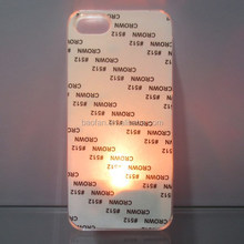 LED Sublimation Phone Case for ip5 2d blank PC case with Metal Sheet sublimation heat press machine