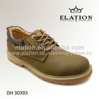 DH 30393 Khaki man casual leather shoe made of shoe making supplies heels
