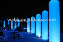 Factory direct sale custom inflatable advertising / inflatable pillar with led