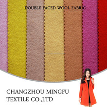 low price double faced wool/nylon blend woolen melange fabric for fashion cloth