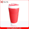 300ml double walled thermal plastic cup with handle (KL-5015)