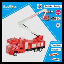 2014 chico juguete de fricción fuego molde del juguete camión de bomberos