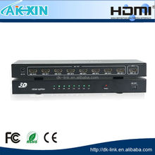 8-Port (1x8) HDMI 1.3 Amplified Powered Splitter/Signal Distributor - Ver 1.3 Full HD 1080P, Deep Color, HD Audio