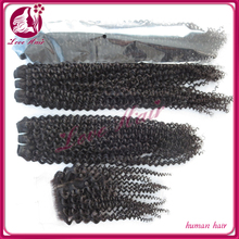 fashion style 7a grade 22 inch raw unprocessed remy brazilian natural wave jerry curl human hair