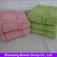 High color fastness 100% cotton colored squares bath /sport towel