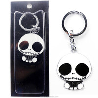 The Nightmare Before Christmas Jack Skellington Pendant Keychain Ring Free Shipping