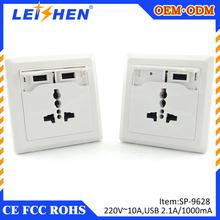 standard universal usb socket,standard single receptacle,socket 100-250V 10A