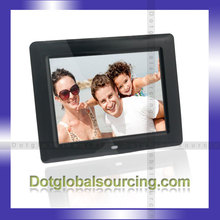 Home Decro 8 Inch HD White/Black Digital Photo Frame Display Picture LCD Display with MP3 Media Player