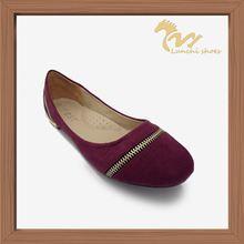 latest design lady flat shoes