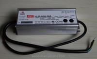 Meanwell LED drivers HLG-60H-36A 60W 36V IP67 CE CB TUV UL PSE