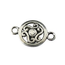 Jewelry Accessories Antiqued Silver Pewter Metal Connector