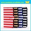 Stripe pattern flip cover leather case for samsung s4 i9500