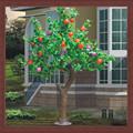 Ao ar livre jardim casa courtyard frutas decorativa luz da árvore artificial falso folha da apple led da apple luz da árvore