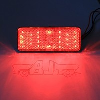 BJ-BL-001 Universal E-mark LED Rectangle Reflectors Brake Light motorcycle led indicator light