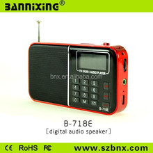 Good quality B-718E TF card FM radio mini speaker