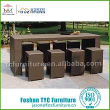 Foshan glass mirrored bar table hot sale