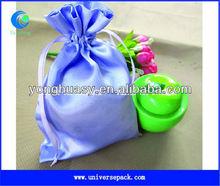 light purple custom satin gift pouch