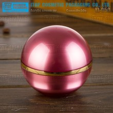 YJ-O50 50g sparkling and pure popular and classical skincare cream 50 ml red color acrylic modern cosmetic jar