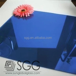 high quality blue coated tempered glass 3mm/ 4mm/ 5mm/ 6mm