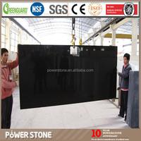 High Quality Pure Black Artificial Quartz Stone Slab