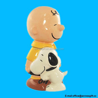 Ceramic Peanuts Charlie Brown and Snoopy Cookie Jar