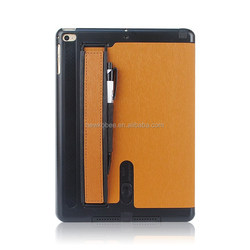 Superior leather Case For IPad Air 2 Sleep Lound Speaker Function Cover for iPad 6 Plastic Back