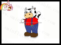 adult inflatable cartoons/inflatable cartoon characters/cow pictures cartoon